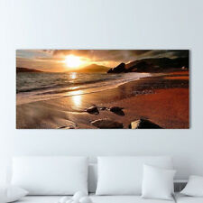 120x50cm Sunset Beach Landscape Canvas Photo Prints Painting Wall Picture Decor