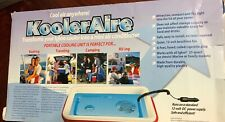 KOOLERAIRE PORTABLE COOLING UNIT, IGLOO COOLER, 25 QT., 12VDC AIR CONDITIONER