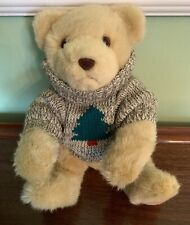 Hallmark Trevor Teddy Bear with Knit Fir Tree Sweater