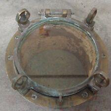 "Antique Wwii Brass Porthole 12"" diameter"