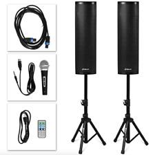 Tower Speakers Pair Amplified Floor Standing 2000W Bluetooth Speakers Set Tripod
