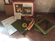 Vintage EMBROIDERY KIT Studio Twelve Stitchkins Gold Finches #1601 1972 NIB