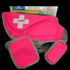 Dog Life Jacket Neoprene by TOP PAW New With Tags Hot Pink, Medium (30-55 lbs