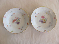 Teichert Meissen Stove-New Brandenstein Floral Pattern-Set of 2 Large Soup Bowls