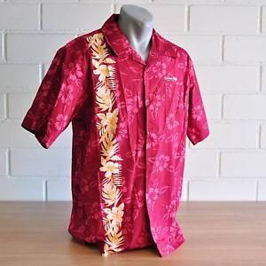 Simmer Style Herren Hawaii Hemd Rot Gr S, M, und L
