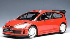 1:18 Citroen C4 WRC PLAIN BODY VERSION - RED Sealed Body Autoart