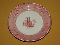 "VINTAGE 6"" ACROSS ROBERT  ROB E LEE STEAMSHIP PADDLE WHEELER CERAMIC PLATE"