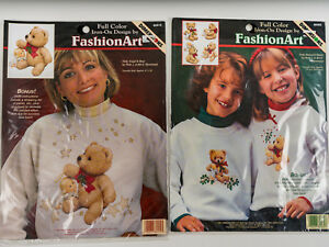 Dimensions FashionArt Iron-On Holly Bears & Angels For Mom and Daughter 2 Packs
