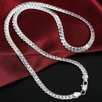 925 Sterling Solid Silver 6MM Snake Chain Necklace 20 Inch Men Women Jewelry