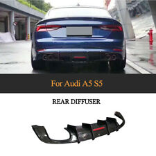 For Audi A5 Sline S5 Rear Bumper Diffuser Lip 2017-2019 Carbon Fiber Factory