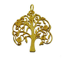 New 24K Gold Plated Family Tree of life Jewelry Ancestor History Roots charm
