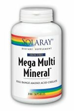 Iron Free Mega Multi Mineral Solaray 200 Caps