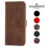Snakehive® Apple iPhone 5/5S/SE Vintage Leather Wallet Phone Case w/Card Slots