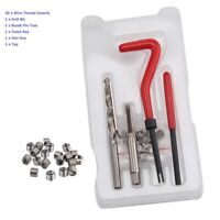 25pcs TRM12 Sealey Tools Thread Repair Work Engine Re-Threader inserts bits Kits