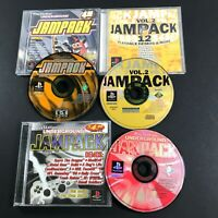 PS1 Playstation 1 Lot of 3 Jampack Underground Demo Discs Winter '98 2000 Vol 2
