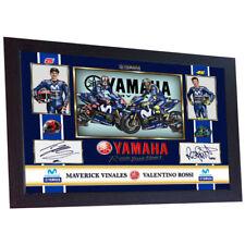 MAVERICK VINALES VALENTINO ROSSI MOTO GP photo print autograph signed Framed