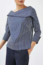 Topshop Twist Stripe Top By Boutique Size 8/36 RRP £59.00