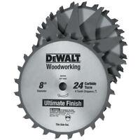 DEWALT 8 in. 24 Tooth Stacked Dado Set DW7670 New