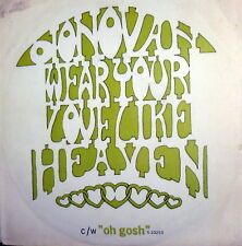 """ OH GOSH "" DONOVAN 7"" 1967 BEAT ITALY RARE WEAR YOUR LOVE LIKE HEAVEN"
