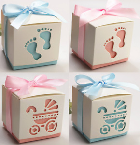 1/25/50/100PCS Baby Shower Wedding Favours Favor Boxes Love Heart Sweet Candy