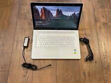 """New listing Hp Envy 17T-U100 i7-7500U 2.7Ghz 32Gb 1Tb Ssd 17.3"""" Touch Screen Silver"""