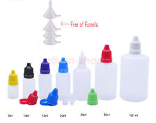 Lots 50 100pcs 5ml-100ml Empty Plastic Squeezable Dropper  Eye Liquid  Bottles