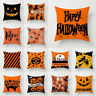 Magical cushion pillow Home Pumpkin Ghost Halloween Decor Cat Witch cover case