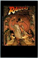 """1984 """"RAIDERS OF THE LOST ARK"""" Postcard VHS Movie Advertising Harrison Ford"""