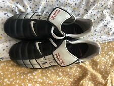 Nike Total 90 II Air Zoom UK 10 SG Football Boots Elite T90 Black / White Retro