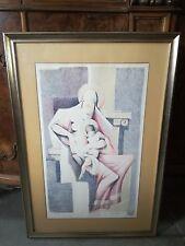 PAOLO FROSECCHI litografia Madonna con Bambino 72x43 quadro autentica garanzia