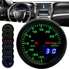 """Car Turbo Boost Gauge 2"""" 52mm PSI Meter Analog/Digital 7 Colors Dual LED Display"""