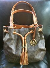 Michael Kors MK Signature Brown Large Handbag Bucket Bag Purse NWOT