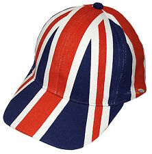 New Unisex Adults Union Jack Baseball Cap Hat Summer Great Britain Flag NWT