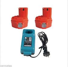 2 Batteries Charger For Makita 14.4V 3.0Ah Ni-MH Heavyduty1430 1433 6228DW 4033D