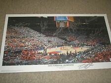 2005 UNC Basketball Team 12X Signed Photo Panoramic Auto North Carolina RARE