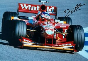 ***  JACQUES VILLENEUVE  -  WILLIAMS / MECACROME  -  SIGNED  -  F1  *** A4 photo