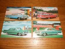 1959 CHEVROLET POSTCARD Set of 4 ORIGINAL 59 Chevy Promo Cards / BROCHURE