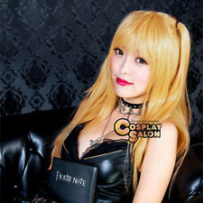 "Party 28""  Long Wavy ATH NOTE Misa Amane Yellow Women Anime Cosplay Wig+Wig Cap"