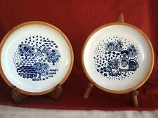 Set of Two French Art Pottery Plates,from Poterie Columbe...They're French