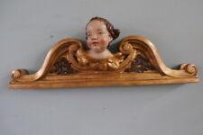 barocke supraporte mit engel ,supraporte , türaufsatz aus holz geschnitzt 1800