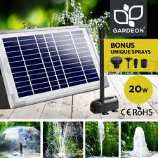Gardeon Solar Pond Pump Water Fountain Pumps Outdoor Submersible Filter 20W