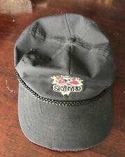 Vintage Lynyrd Skynyrd Concert Skull/CrossBones Trucker Hat Cap Black Taiwan