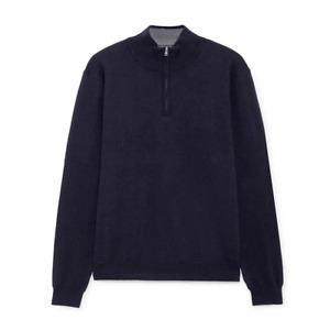 Men's Hackett, FN GG WSC Half Zip Sweater in Navy