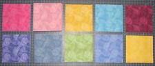 """Pizzazz Pizazz Geometric Tonal Multi Color Cotton Fabric 78 -- 5"""" Charm Squares"""
