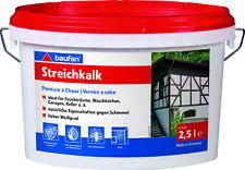 Baufan Streichkalk Kalkfarbe Wandfarbe Mineralfarbe innen, weiß, 2,5l bis 10l
