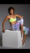 NWT Onzie Yoga Workout Swim Capri Tights Agave Size S/M Run Spin
