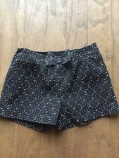 Next Dressy Shorts/ Age 8, 128cms/Black & White/ Adjustable Waist/ Bow Detail