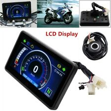 12V Motorcycle Speedometer Odometer Tachometer RPM Speed Meter Fuel LCD Gauge