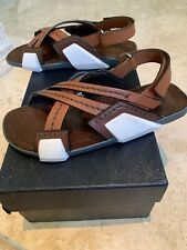 Prada Runway Leather Crisscoss Sandals Prada Size 6.5. 100% Authentic. Deadstock