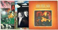 Crosby Stills & Nash LP Vinyl Record Album Lot Play Replay + Allies + American